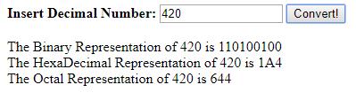 Number Conversions Using JavaScript