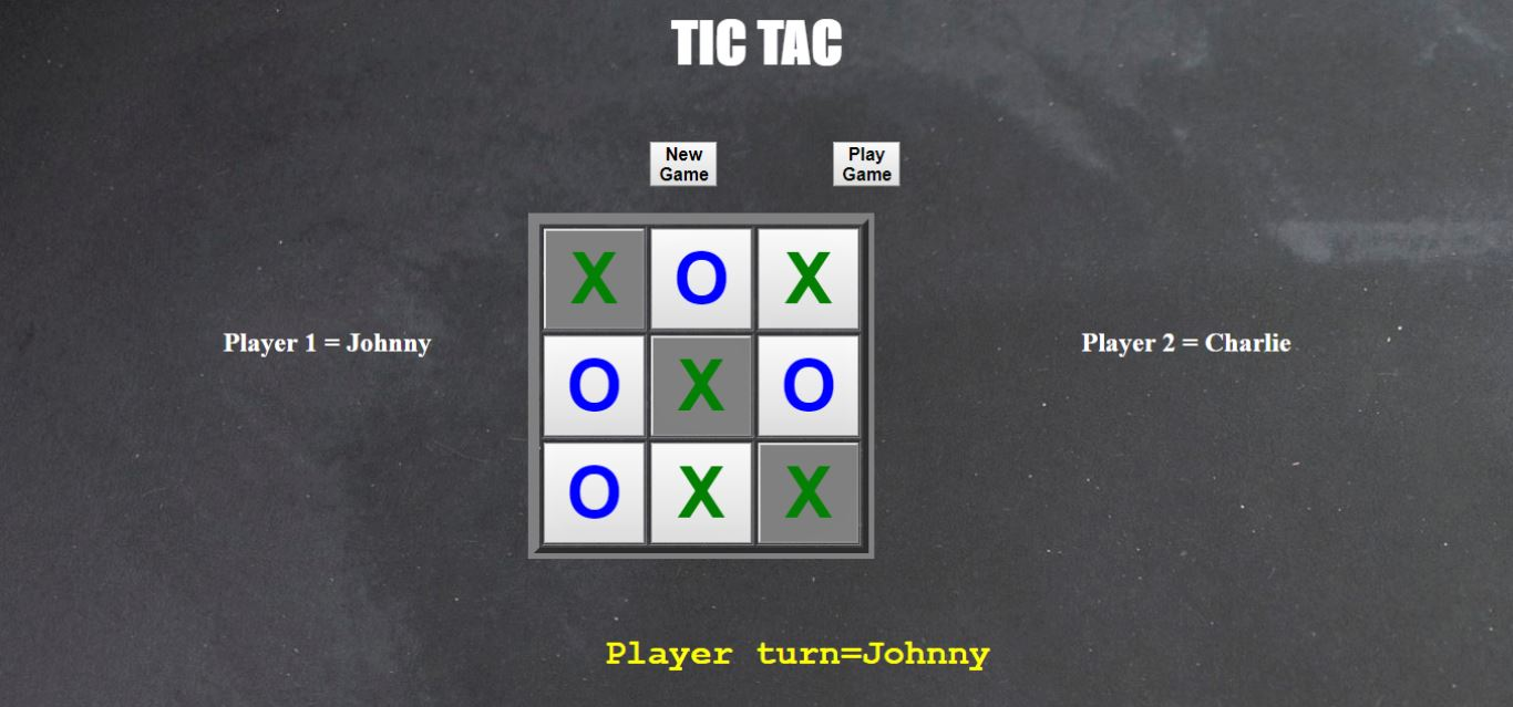 Tic Tac Game Using JavaScript | Source Code & Projects