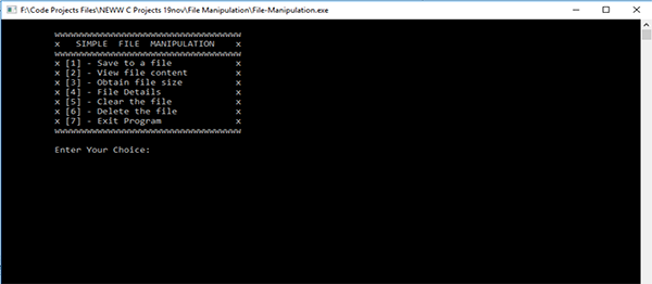 File Manipulation System In C++ With Source Code