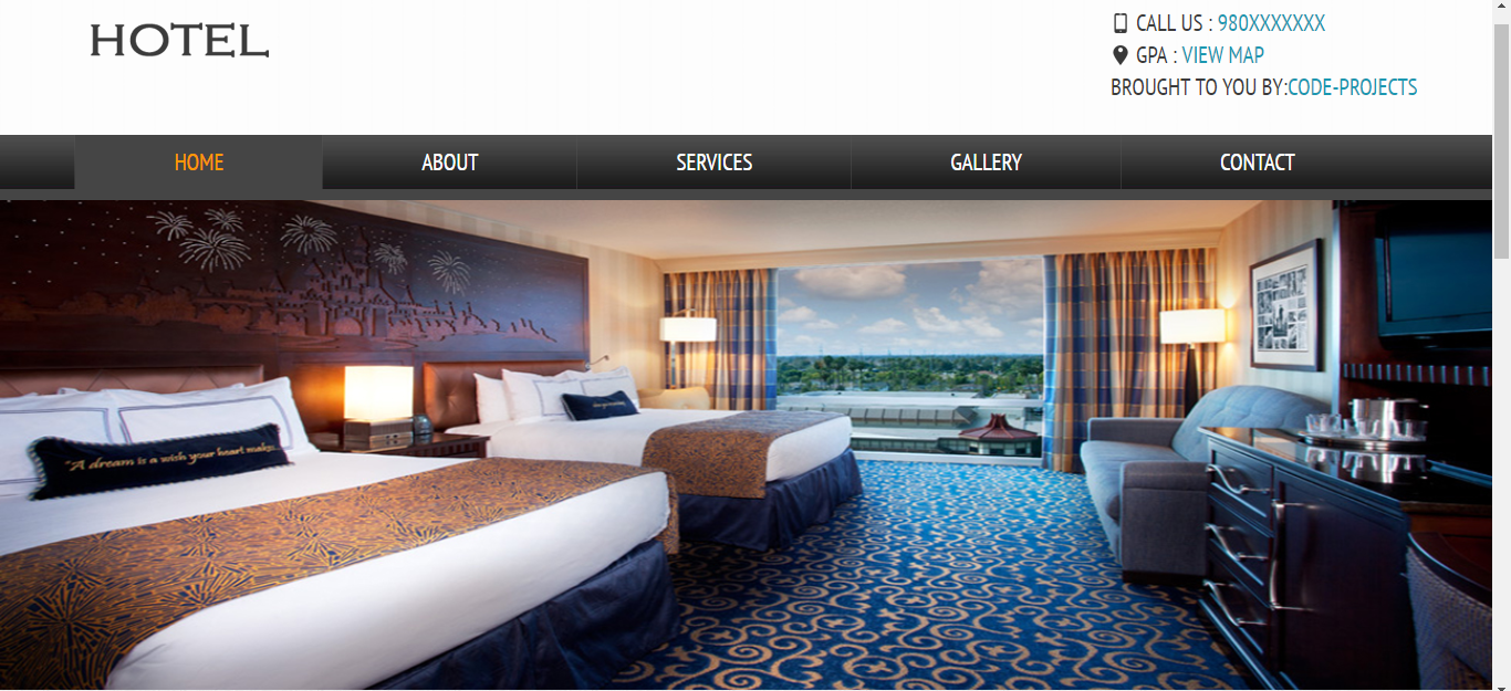Hotel Site Using HTML, JavaScript & CSS - Code Projects