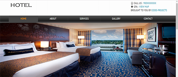 Hotel Site Using HTML, JavaScript & CSS