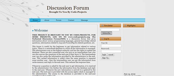 Online Discussion Forum Site Using PHP