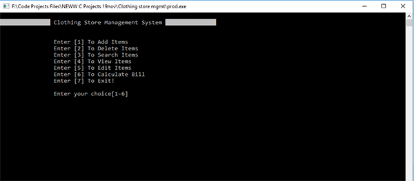 Clothing Store Management System In C Programming With Source Code
