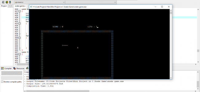 Classic Snake Game In C Programming With Source Code
