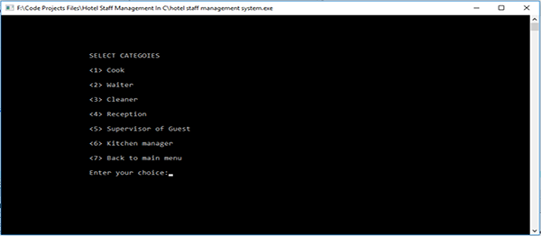 Hotel Staff Management System In C Programming With Source Code