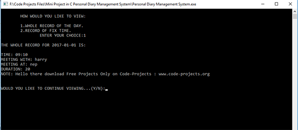 Personal Diary Management System In C Programming With Source Code