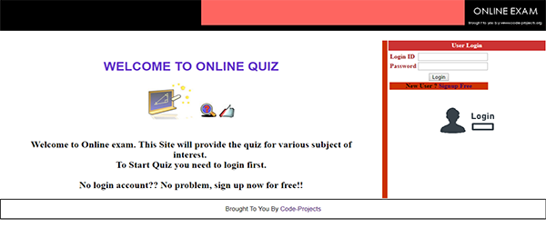 Online Quiz Site Using PHP With Source Code