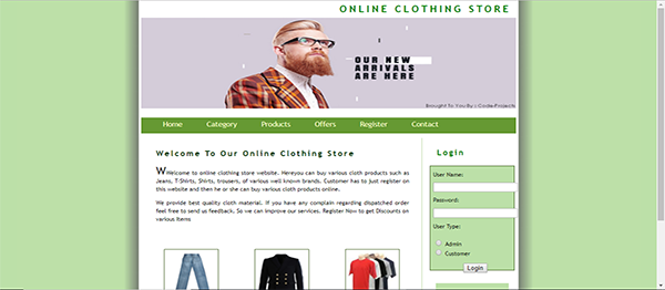 Online Clothing Store Using PHP With Source Code