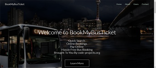 Online Bus Reservation Site Using PHP With Source Code