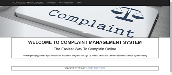 Online Complaint Site Using PHP With Source Code