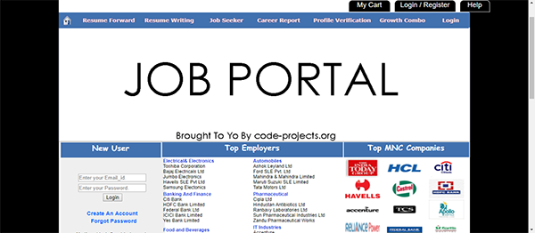 Job Portal Using PHP With Source Code
