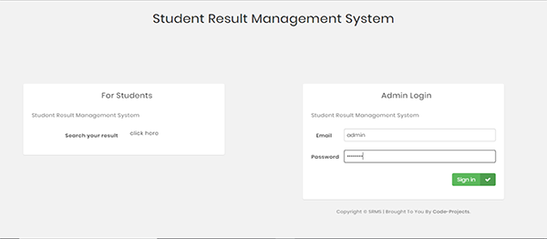 Student Result Management Site Using PHP With Source Code