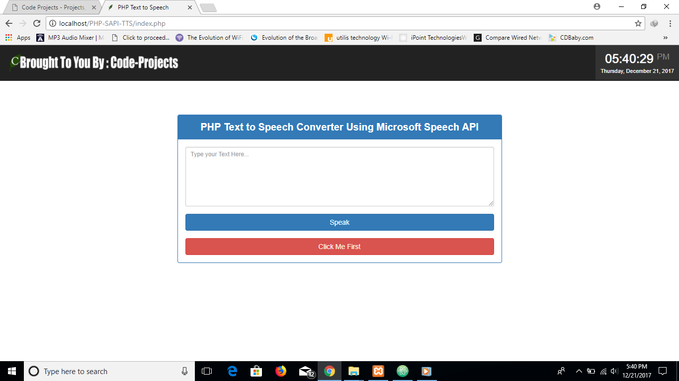 Text To Speech Converter Using PHP With Source Code | Source