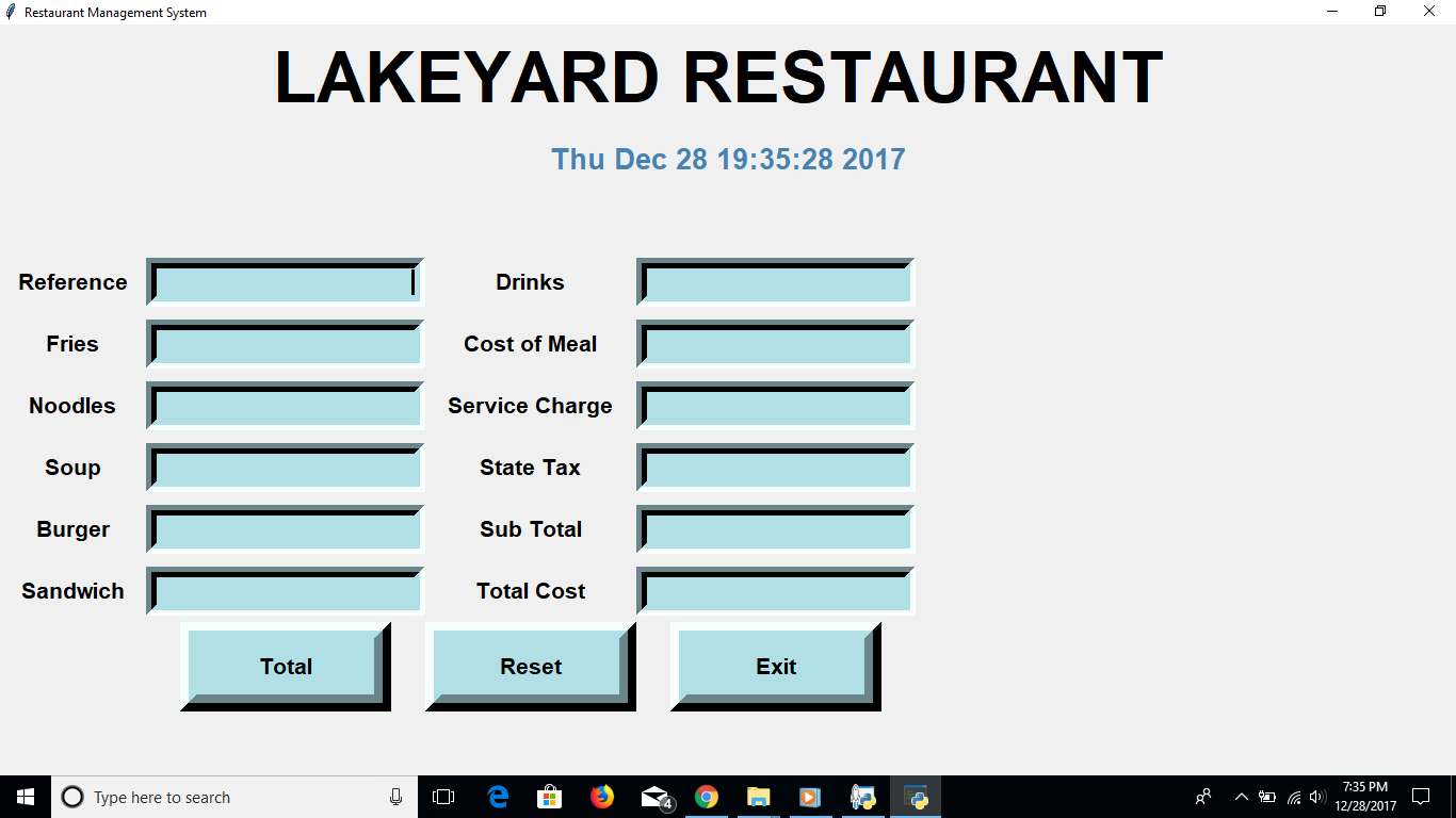 Restaurant Management System |Python Project| Source Code & Projects
