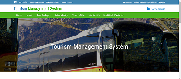 Tourism Management System Using PHP With Source Code