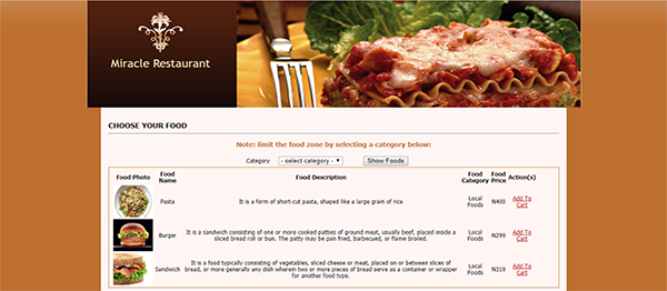 Online Restaurant Site Using PHP With Source Code