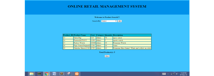 Online Retail Management System
