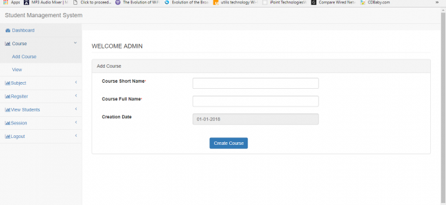 Student Management System Using PHP With Source Code