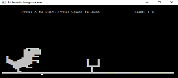 Dino Game In C Programming With Source Code | Source Code & Projects