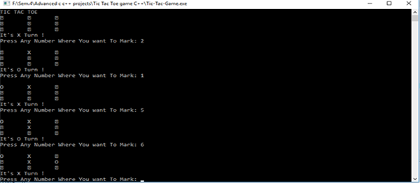 TIC-TAC-TOE GAME IN C++ WITH SOURCE CODE