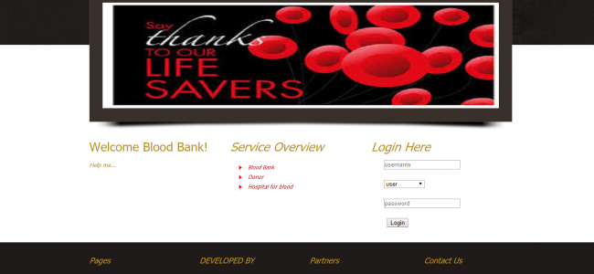 Blood Bank Management System In Java, JSP, Servlet Web Application