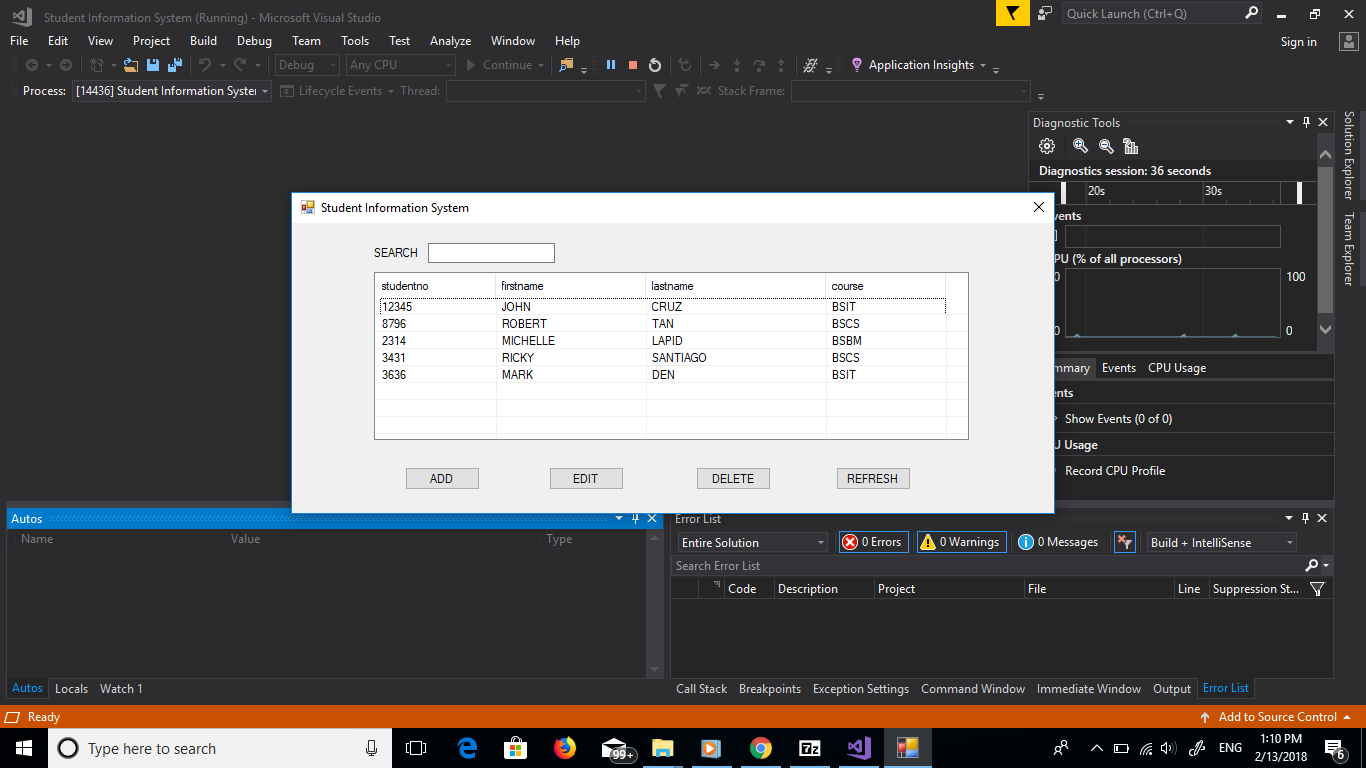 Student Information System In VB.NET With Source Code