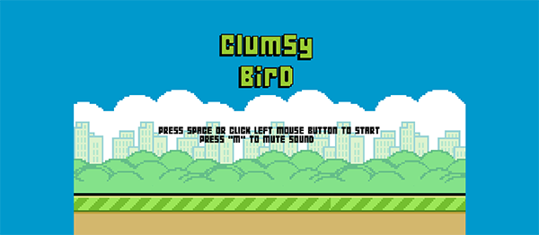 CLUMSY BIRD GAME IN JAVASCRIPT AND HTML WITH SOURCE CODE