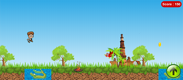 Platform Game In JQUERY, CSS With Source Code
