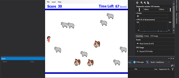Catch The Sheep Game In C# With Source Code