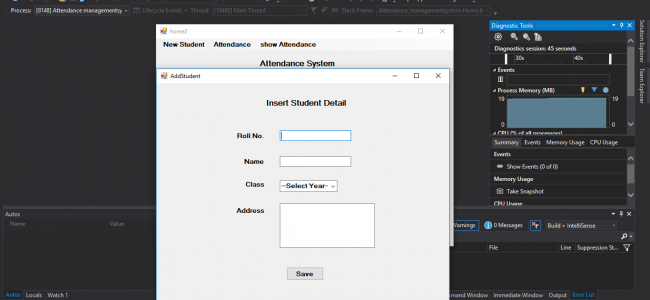 Attendance Management System In C# With Source Code | Source
