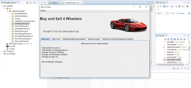 Car Sales System In JAVA With Source Code | Source Code & Projects