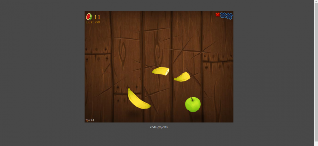 Fruit Ninja Cutter Game In JavaScript And HTML5 With Source