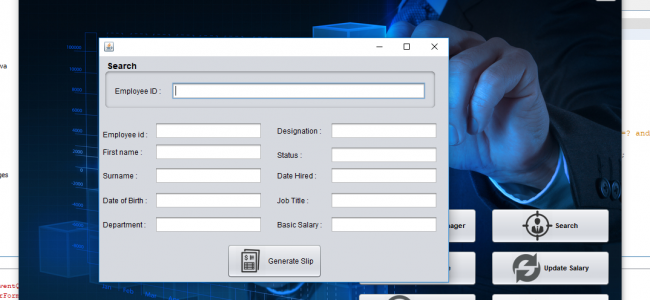 Employee Payroll Management System In Java Using NetBeans With