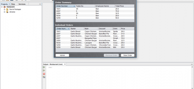 Restaurant Management System Project In Java Netbeans Download