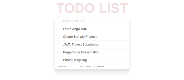 TODO List In AngularJS With Source Code