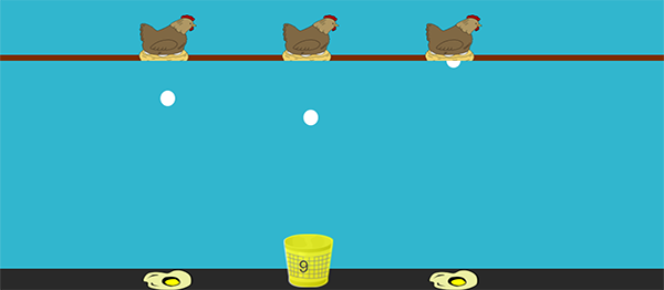 EGG CATCHER GAME IN JAVASCRIPT WITH SOURCE CODE