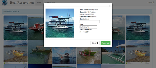 Online Boat Reservation System In PHP With Source Code