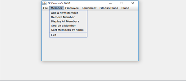 Gym Management System In Java And AWT Using Netbeans with Source Code
