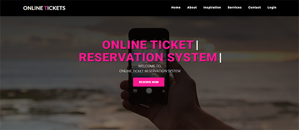 Online Ticket Reservation System In PHP With Source Code