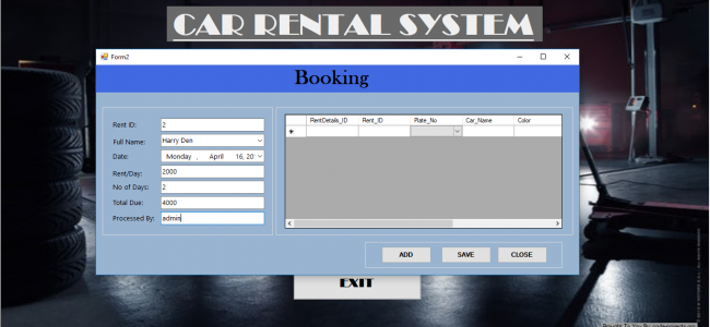 Car Rental System In VB NET With Source Code | Source Code