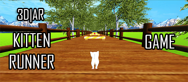 Kitten Runner Game – 3D & AR Mode In UNITY ENGINE With Source Code