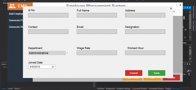 Employee Management System In C# With Source Code | Source Code