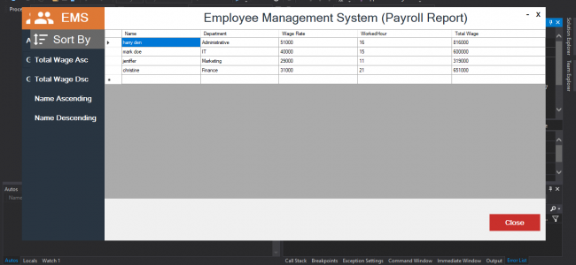 Employee Management System In C# With Source Code | Source