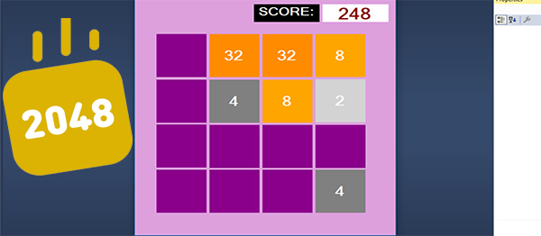 2048 Game In C# With Source Code
