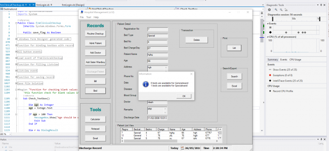 Hospital Management System In VB NET With Source Code   Source Code
