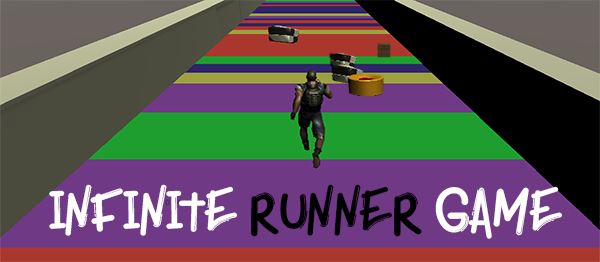 Infinite Runner 3D Game In UNITY ENGINE With Source Code