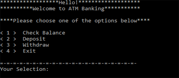 ATM Banking In C Programming With Source Code