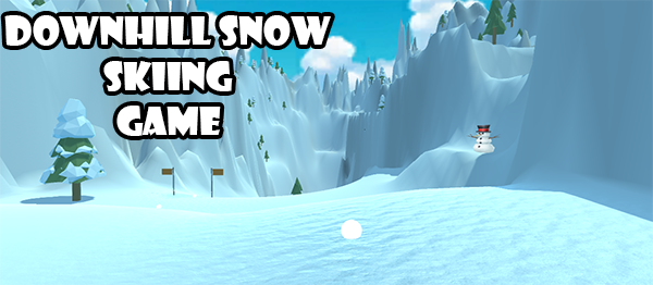 DownHill Snow Skiing Game In UNITY ENGINE With Source Code