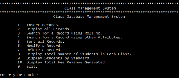 School Management System In C With Source Code Source