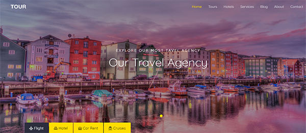Responsive Travel Agency Site In HTML5 And JavaScript With Source Code
